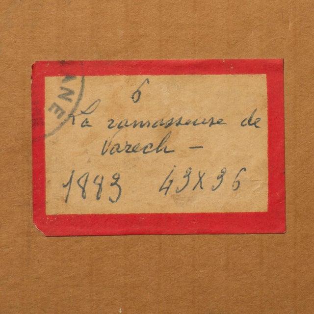 'La Ramasseuse De Varech' by Claude Emile Schuffenecker, 1883; Young Bretonne Kelp Gatherer, Paul Gauguin For Sale - Image 11 of 13
