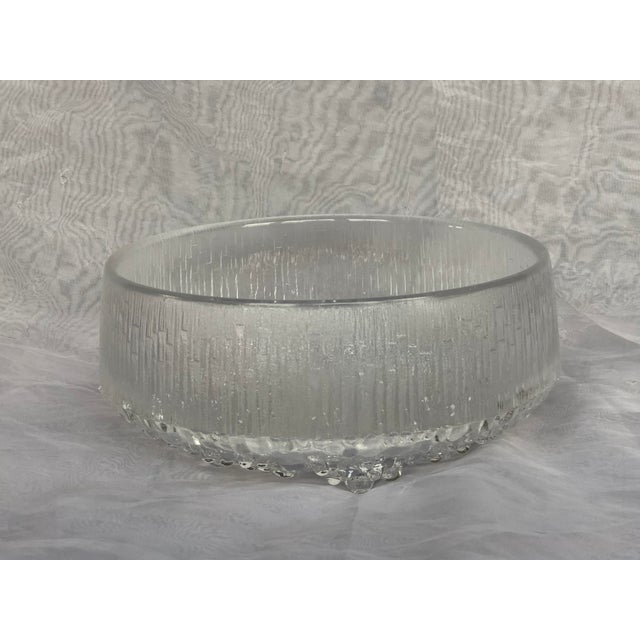 1970s Finnish Crystal Modern Art Glass Bowl For Sale - Image 13 of 13