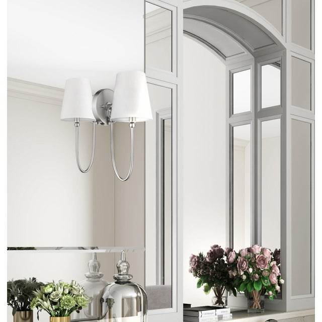 Chrome Signature 1 Light Sconce, Satin Nickel For Sale - Image 8 of 9
