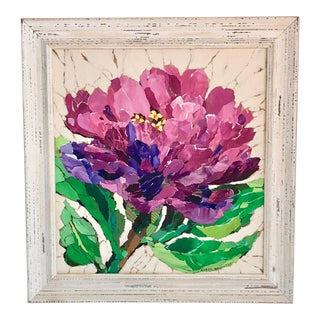 Purple Zinnia Floral Collage For Sale