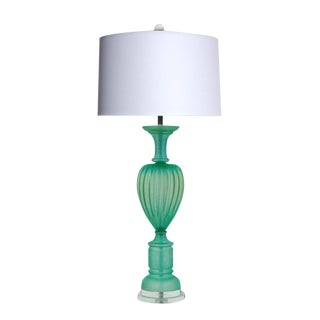 Marbro Murano Acidato Glass Table Lamp Aqua For Sale