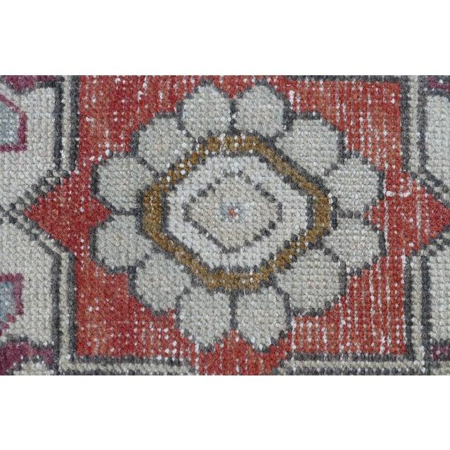 Textile 1970s Vintage Turkish Runner Rug Geometric Wool Rug - 2′9″ × 8′7″ For Sale - Image 7 of 9