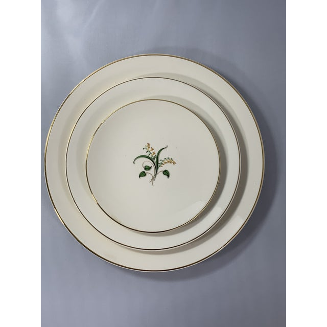 Vintage Forsythia Pattern by Edwin Knowles China Company Dinnerware - 47 Piece For Sale - Image 4 of 13