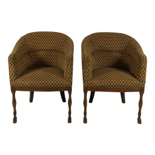 1940s Vintage Regency-Style Club Chairs - a Pair For Sale