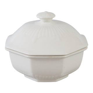 White English Ironstone Lidded Sugar Bowl For Sale