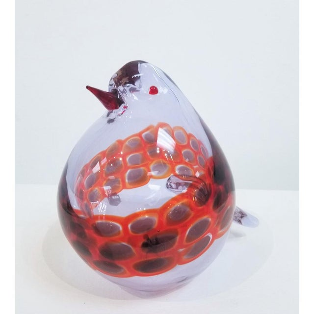 Cenedese 1970s Vintage Antonio Da Ros for Cenedese Murano Glass Pigeon For Sale - Image 4 of 8