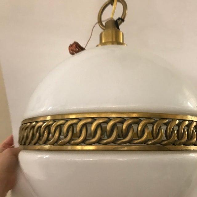 Visual Comfort Ralph Lauren Hendricks Small Globe Pendant For Sale - Image 10 of 12