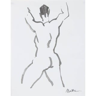 Rip Matteson Figurative Line Drawing in Ink, 20th Century For Sale
