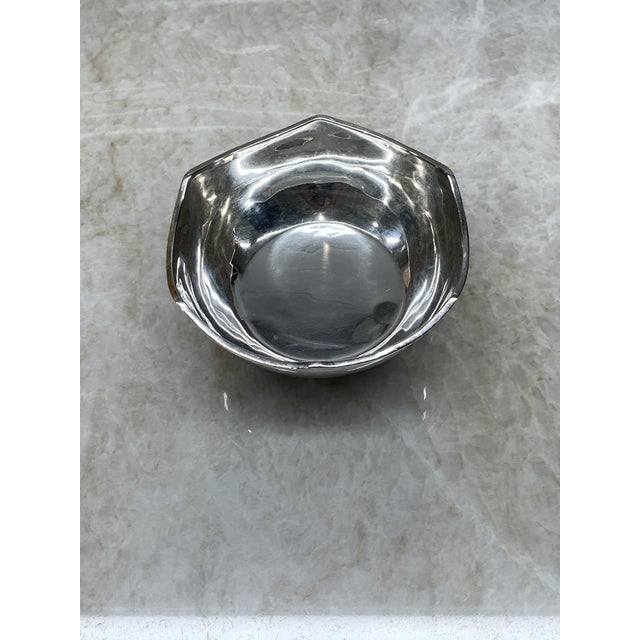 Mid-Century Modern Vintage Mid-Century Mexican Sterling Silver Bowl For Sale - Image 3 of 5