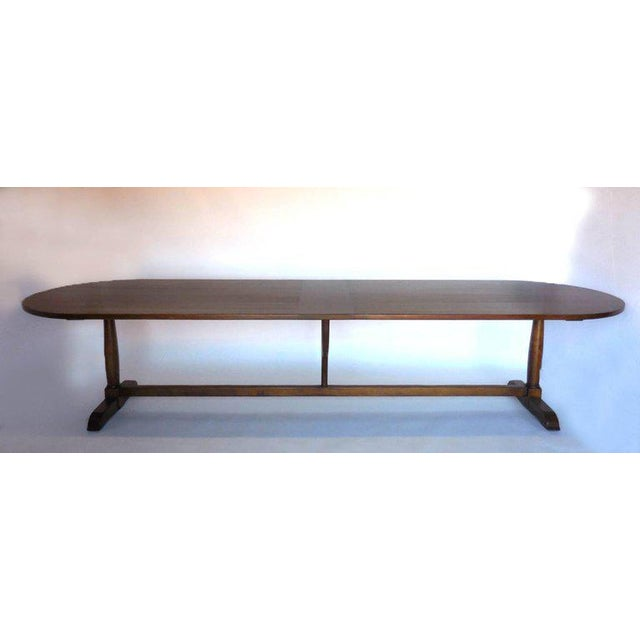 Brown Dos Gallos Custom Oval Wine Tasting Table in Walnut For Sale - Image 8 of 8