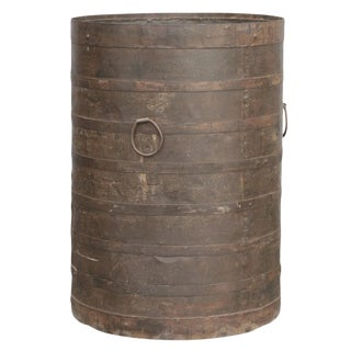 Handcrafted Iron Barrel For Sale
