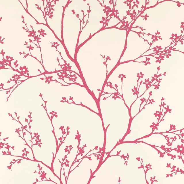 Schumacher Twiggy Wallpaper in Raspberry For Sale