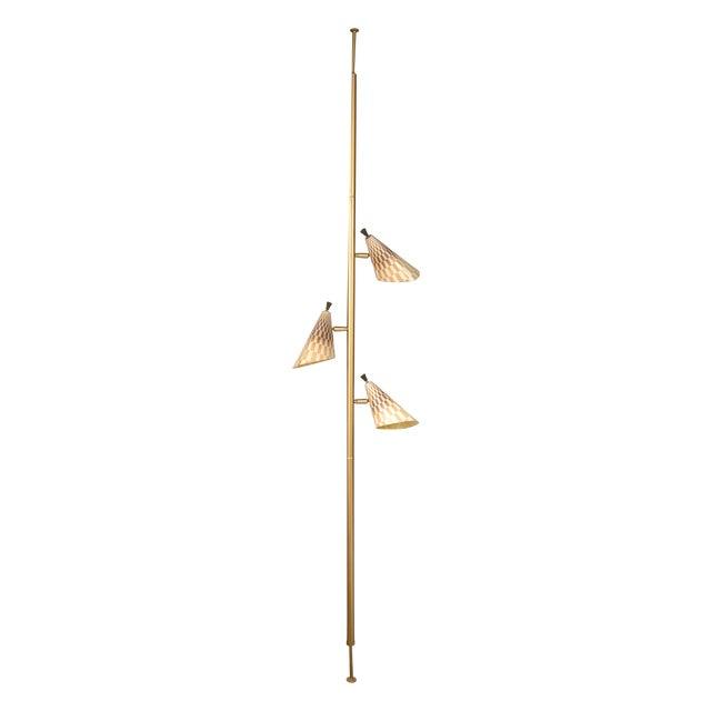 Retro Pole Multihead Floor Lamp - Image 1 of 11