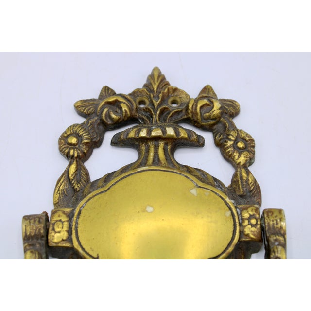 Antique French Brass Door Knocker For Sale - Image 4 of 9