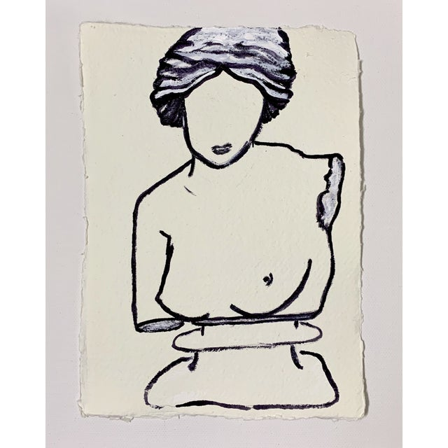 Lindsey Weicht Female Bust No. 1 Drawing For Sale - Image 4 of 4