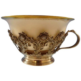 Chrysanthemum by Tiffany & Co. Sterling Silver Tea Cup With Lenox Liner For Sale