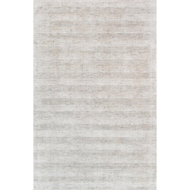 Pasargad Textured Transitiona Bamboo Silk Area Rug - 5' X 8' For Sale