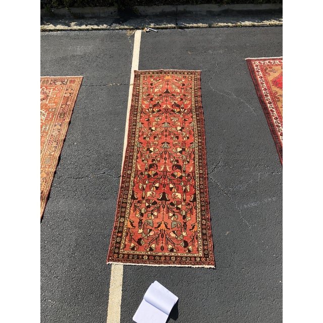"""1960's Vintage Persian Hamadan Thick & Heavy Runner 3'3""""x9'4"""" For Sale - Image 13 of 13"""