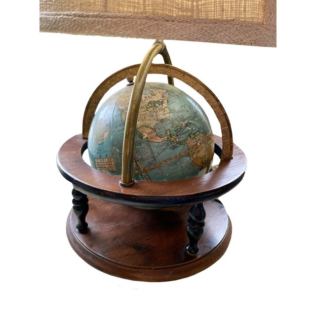 Antique Globe Lamp For Sale - Image 4 of 6