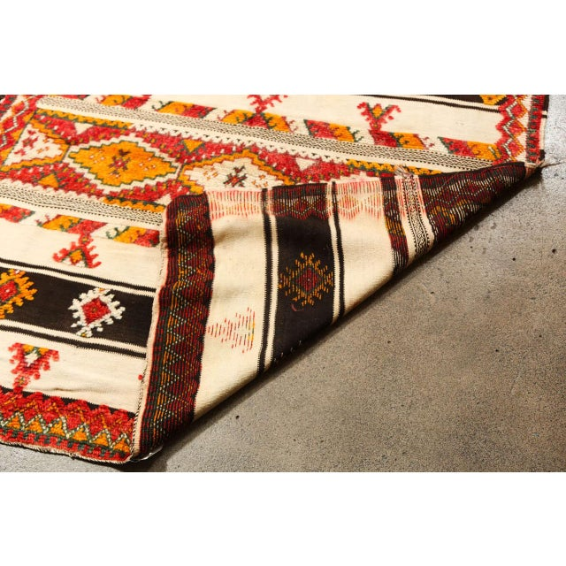 White Moroccan Vintage Tribal Rug For Sale - Image 8 of 10