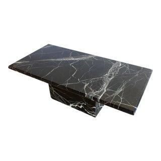 Sculptural Mid-Century Italian Marble Pedestal Coffee Table