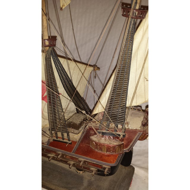 Antique Wooden European Ship Galleon For Sale - Image 4 of 11