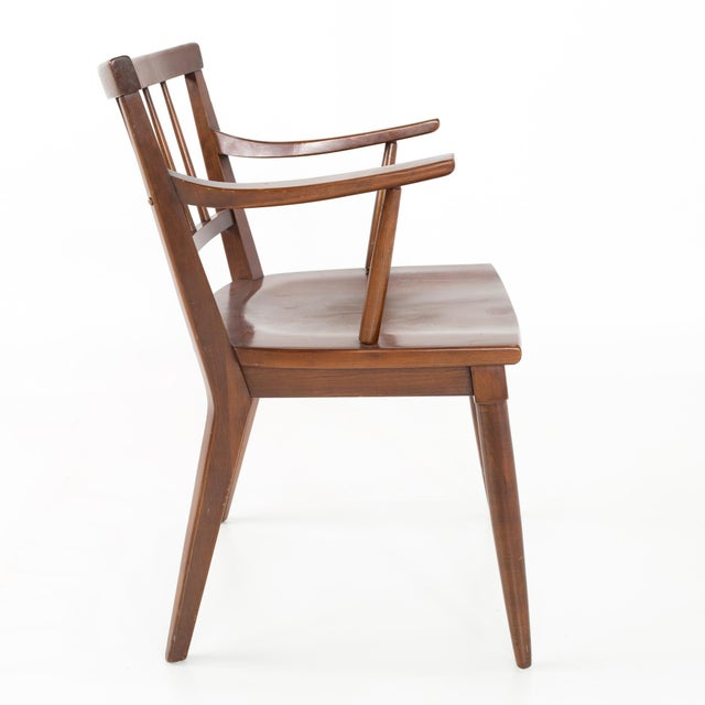 Cherry Wood Mid Century Paul McCobb Style Cherry Dining Chairs - Set of 8 For Sale - Image 7 of 13