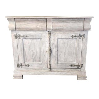 Philippe Server Sideboard Pickled Antique White For Sale