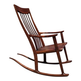 Claro Walnut Rocking Chair by Anthony Kahn For Sale