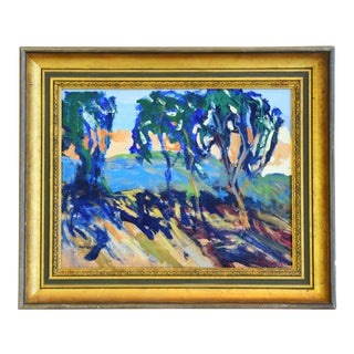 "Colorful Plein Air California Landscape Painting by Juan ""Pepe"" Guzman For Sale"