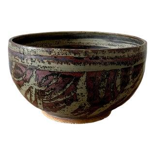 Mid 20th Century Laurel Canyon Raku Bowl For Sale