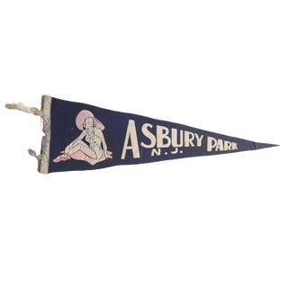 Vintage Asbury Park n.j. Felt Flag Pennant