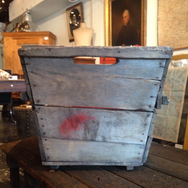 French Vintage French Champagne Crate For Sale - Image 3 of 6
