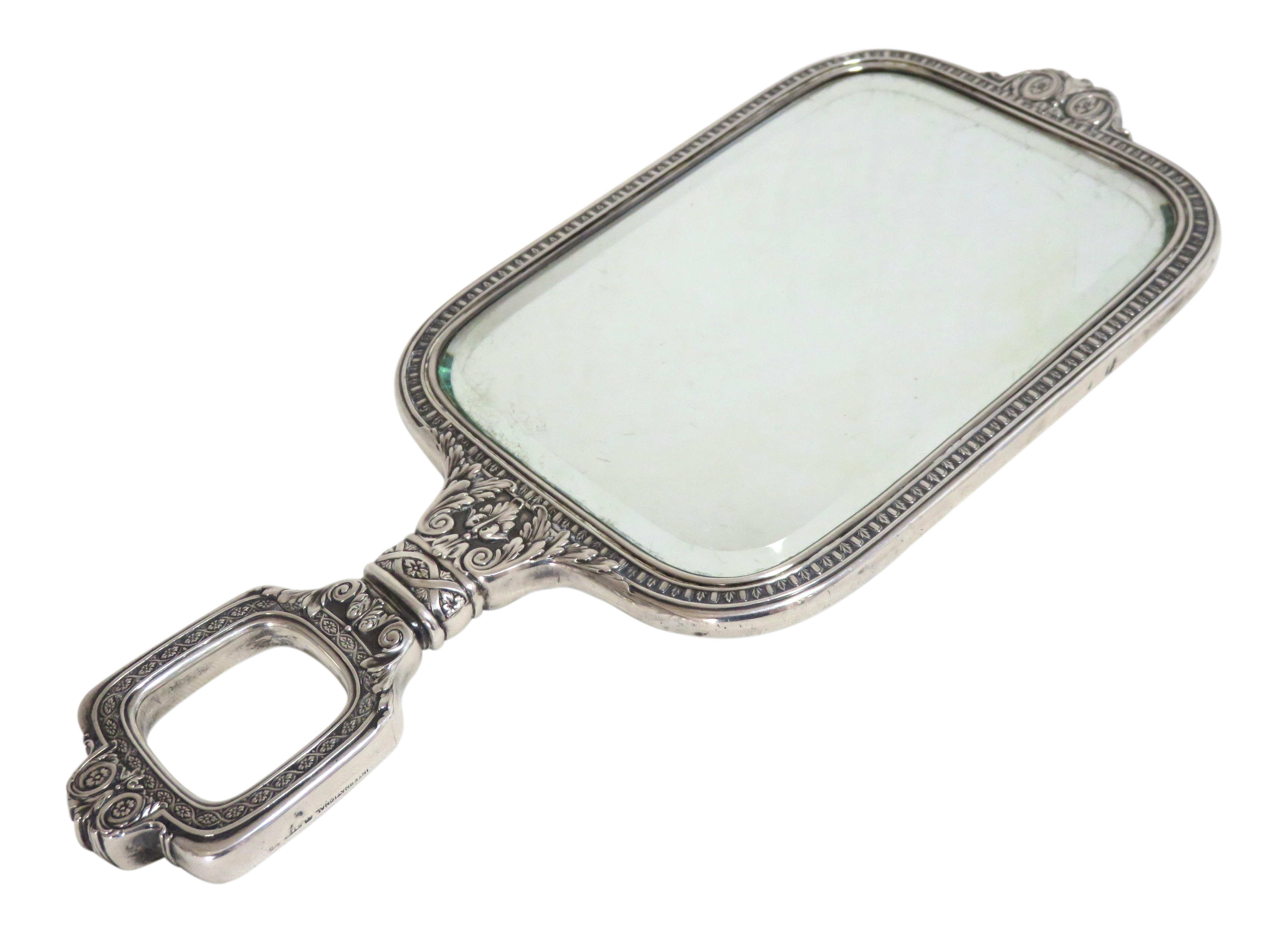 Early 20th Century Antique Sterling Silver Lady S Vanity Hand Mirror