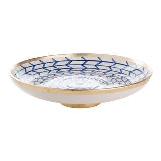 Contempo Collection Decorative Geometric Ceramic Footed Plate