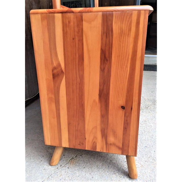 Adirondack Franklin Shockey Mid-Century Sculptured Pine Dresser With Mirror Rustic Modern For Sale - Image 3 of 13