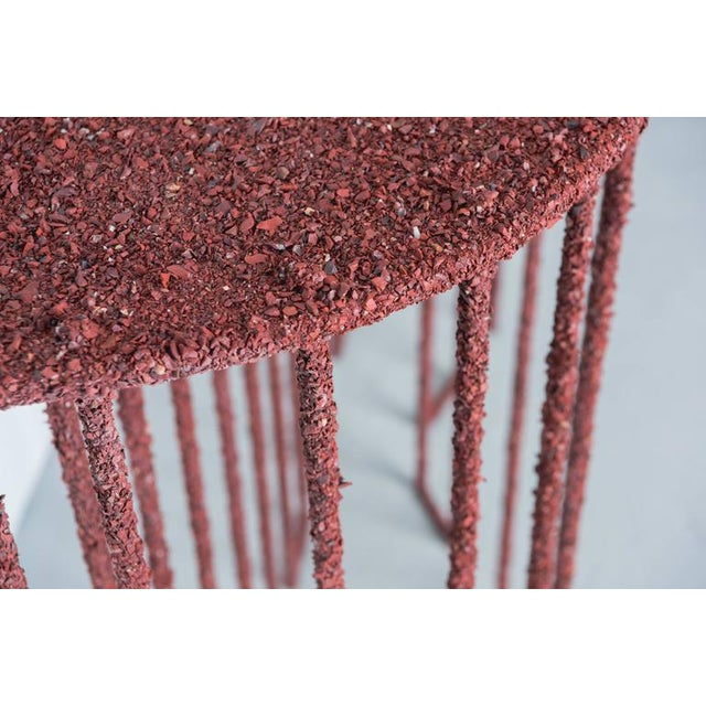 Not Yet Made - Made To Order Hand Made Console of Crushed Red Jasper From India, by Samuel Amoia For Sale - Image 5 of 10