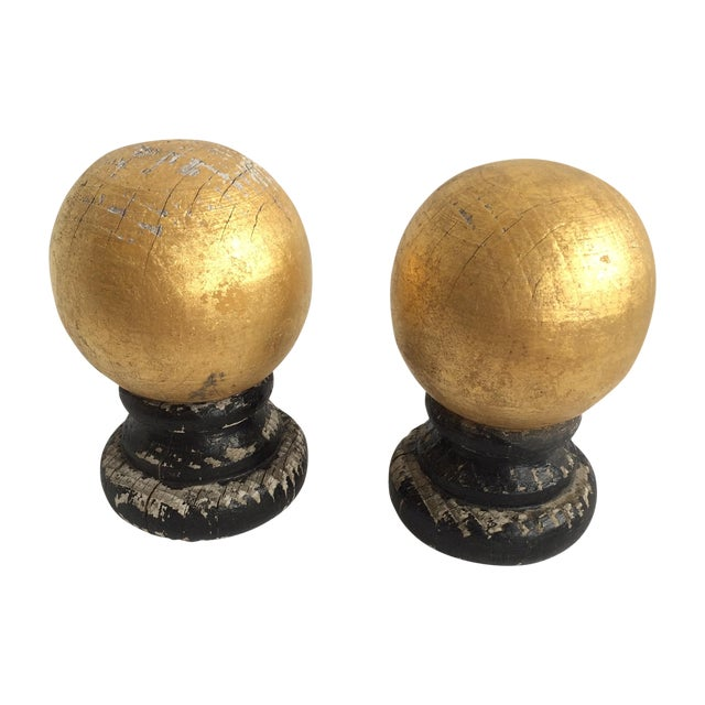 Wooden Guided Finials - A Pair - Image 1 of 5