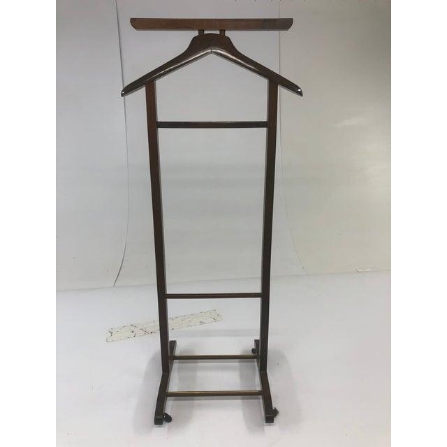 Vintage Mid Century Modern Wood Butler / Valet Hanger Stand For Sale - Image 9 of 12