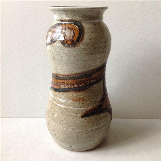 Studio Pottery Neutral Tone Glazed Vase - Image 2 of 11