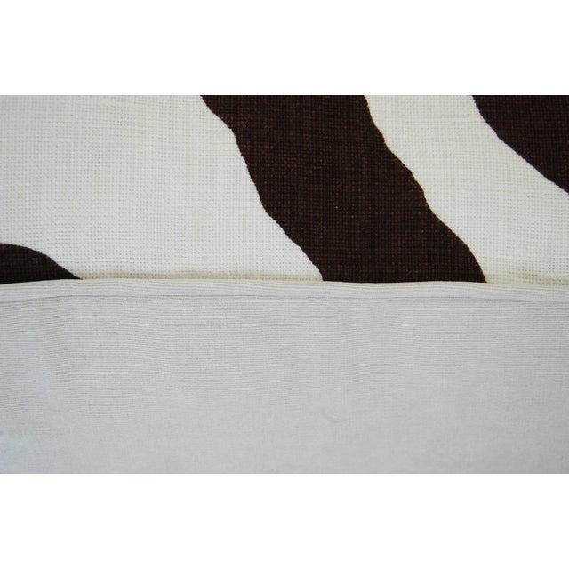 Custom Scalamandre Zebra Linen Pillows - Pair - Image 11 of 11