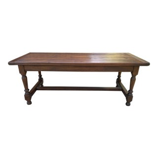Antique French Country Oak Farmhouse Table For Sale