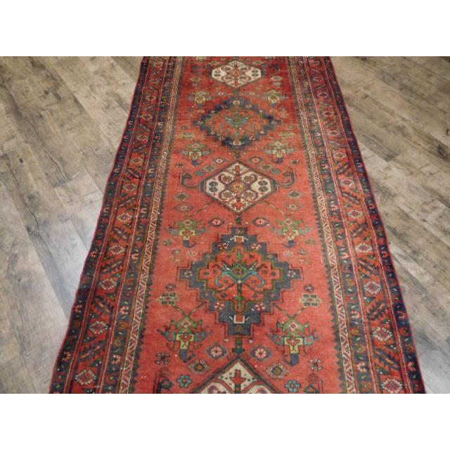 Antique Persian Karaja Runner - 3′7″ × 14′ - Image 6 of 10