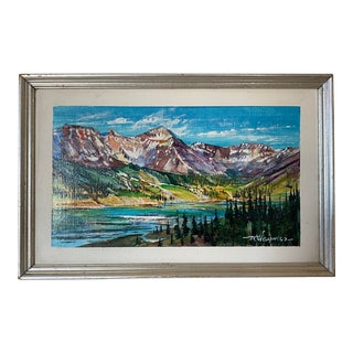 Mid 20th Century Landscape Oil Painting by Richard Ellis Wagner, Framed For Sale