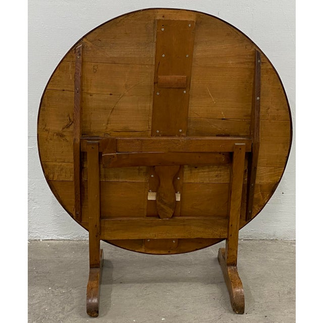 French 19th Century French Tilt Top Tavern or Wine Table For Sale - Image 3 of 9