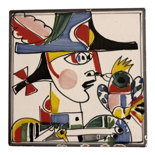 1960s Italian Pottery Trivet by Giovanni DeSimone For Sale