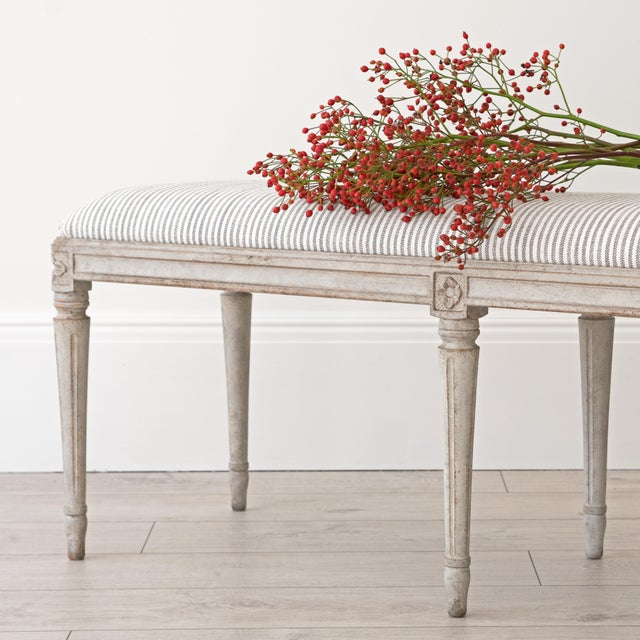 Georgia Lacey Bespoke Luna Swedish Gustavian Stool For Sale - Image 4 of 10