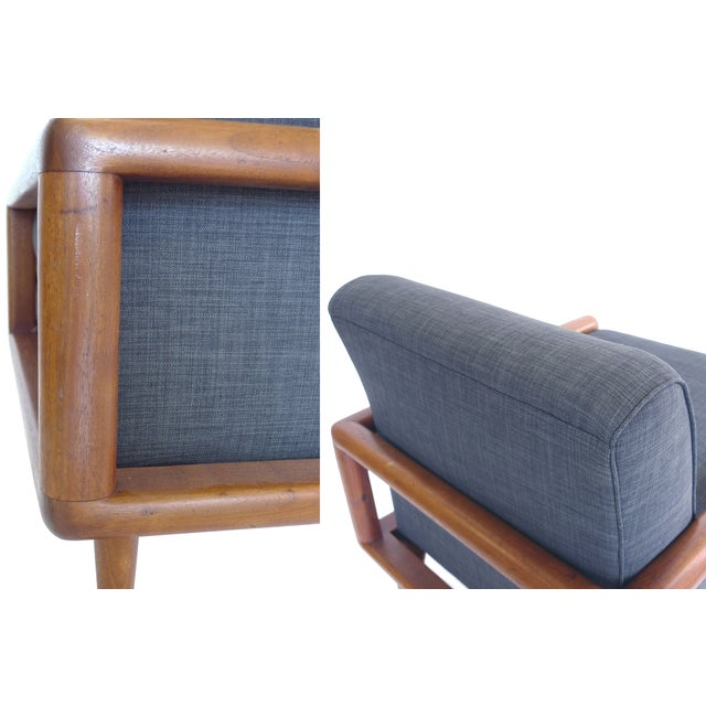 In the Style of T.H. Robsjohn-Gibbings Mid-Century Sofa & Armchair Set - Image 9 of 9