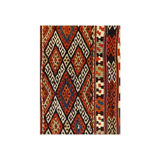 19th Century Azeri Kilim Runner - Image 6 of 7