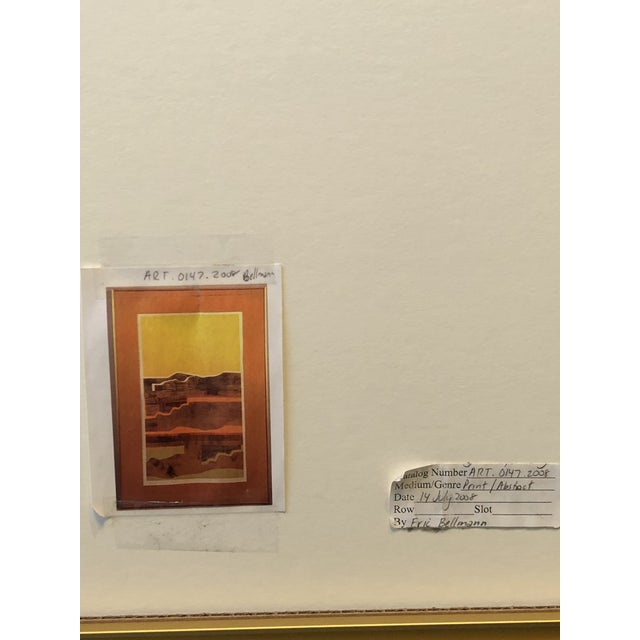 Eric Bellman Mixed Media Abstract of Southwest For Sale - Image 10 of 11
